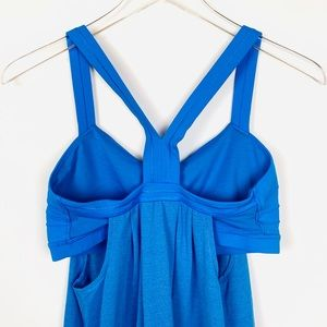 Lululemon Athletica⚡️ Blue built in bra tank